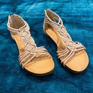 Adam Tucker ME TOO Nubuck Grey Sandals